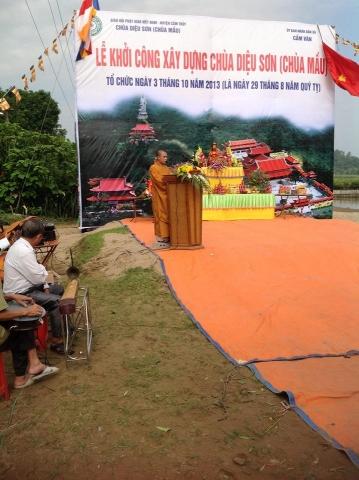 Cẩm Thuỷ: Lễ khởi công xây dựng chùa Diệu Sơn (chùa Mầu) 11