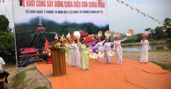 Cẩm Thuỷ: Lễ khởi công xây dựng chùa Diệu Sơn (chùa Mầu) 6